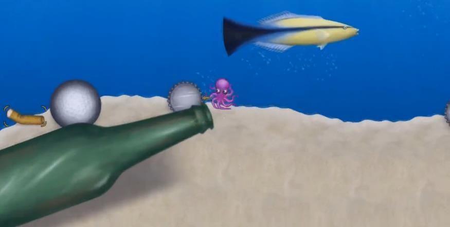 章鱼吃垃圾 图2