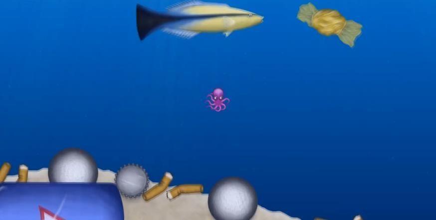 章鱼吃垃圾 图1