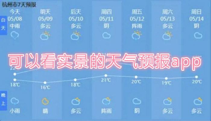 可以看实景的天气预报app