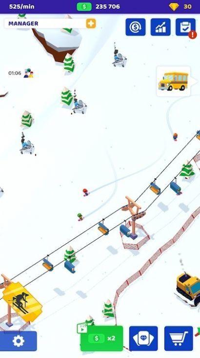 空闲滑雪大亨游戏 图2