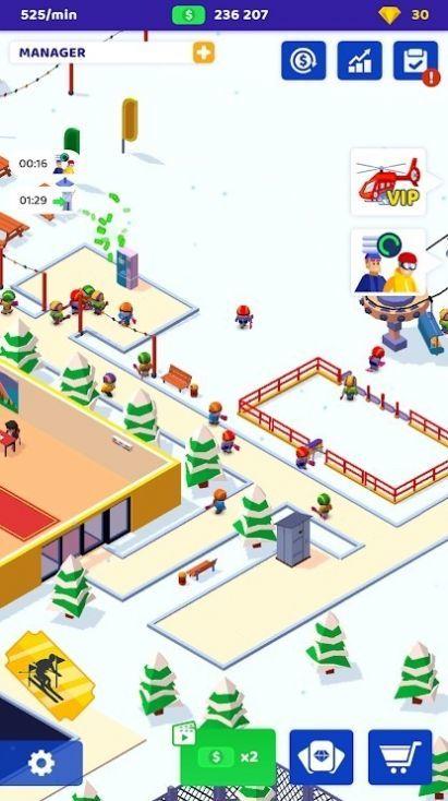 空闲滑雪大亨游戏 图1